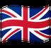 Cómo se ve el emoji Bandera: Reino Unido en Google.