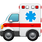 How Ambulance emoji looks on Apple.