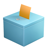How Ballot Box with Ballot emoji looks on Apple.