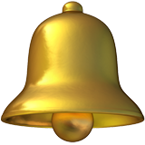 How Bell emoji looks on Apple.