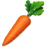 How Carrot emoji looks on Apple.