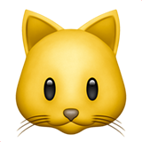 How Cat Face emoji looks on Apple.