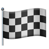 How Chequered Flag emoji looks on Apple.