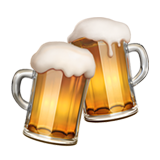 How Clinking Beer Mugs emoji looks on Apple.