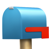 How Closed Mailbox with Lowered Flag emoji looks on Apple.