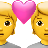 How Couple with Heart emoji looks on Apple.