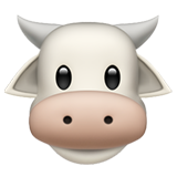 How Cow Face emoji looks on Apple.