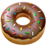 How Doughnut emoji looks on Apple.