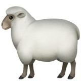 How Ewe emoji looks on Apple.