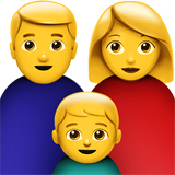How Family: Man, Woman, Boy emoji looks on Apple.