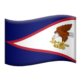 How Flag: American Samoa emoji looks on Apple.