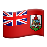 How Flag: Bermuda emoji looks on Apple.