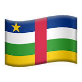 How Flag: Central African Republic emoji looks on Apple.