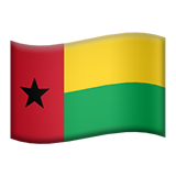 How Flag: Guinea-Bissau emoji looks on Apple.