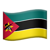 How Flag: Mozambique emoji looks on Apple.