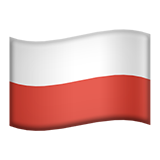 How Flag: Poland emoji looks on Apple.