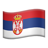 How Flag: Serbia emoji looks on Apple.