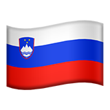 How Flag: Slovenia emoji looks on Apple.