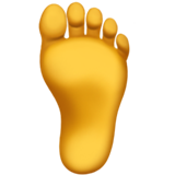 How Foot emoji looks on Apple.