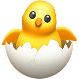 How Hatching Chick emoji looks on Apple.