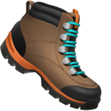 How Hiking Boot emoji looks on Apple.
