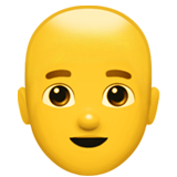How Man: Bald emoji looks on Apple.