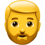 How Man: Beard emoji looks on Apple.