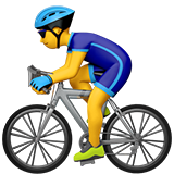 How Man Biking emoji looks on Apple.