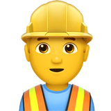 How Man Construction Worker emoji looks on Apple.