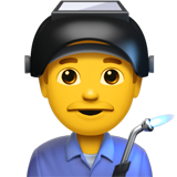 How Man Factory Worker emoji looks on Apple.