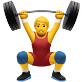How Man Lifting Weights emoji looks on Apple.