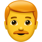 How Man: Red Hair emoji looks on Apple.