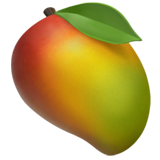 How Mango emoji looks on Apple.