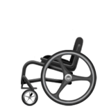 How Manual Wheelchair emoji looks on Apple.