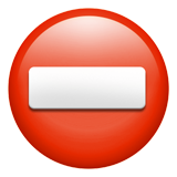 How No Entry emoji looks on Apple.