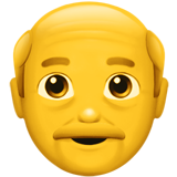 How Old Man emoji looks on Apple.