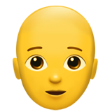 How Person: Bald emoji looks on Apple.