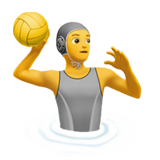 How Person Playing Water Polo emoji looks on Apple.