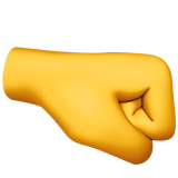 How Right-Facing Fist emoji looks on Apple.