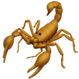 How Scorpion emoji looks on Apple.
