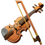 How Violin emoji looks on Apple.