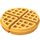 How Waffle emoji looks on Apple.