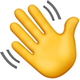 How Waving Hand emoji looks on Apple.