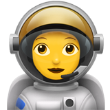 How Woman Astronaut emoji looks on Apple.