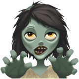 How Woman Zombie emoji looks on Apple.