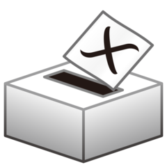 How Ballot Box with Ballot emoji looks on Emojidex.
