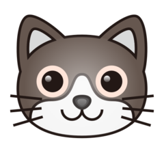 How Cat Face emoji looks on Emojidex.