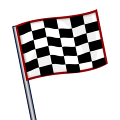 How Chequered Flag emoji looks on Emojidex.