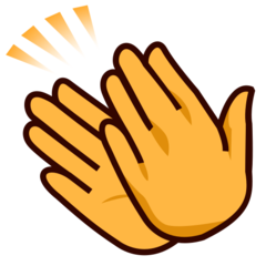 How Clapping Hands emoji looks on Emojidex.
