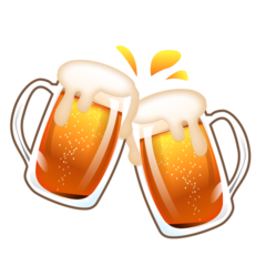 How Clinking Beer Mugs emoji looks on Emojidex.